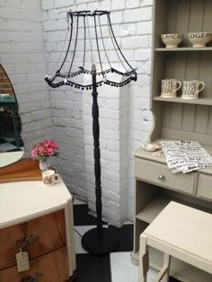 Description: Our 'Fiona' is a vintage 1970's standard lamp. We have updated this classic piece of household furniture and given a modern day twist. The old shade has been stripped back to the fram