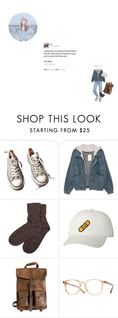 """For Archie"" by kimiko-shuuya ❤ liked on Polyvore featuring Converse, Urban Outfitters, Brora, Kjøre Project and Oliver Peoples"