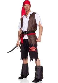 Adult Man Luxury Pirate Halloween Dress up Costumes Party Drama Cosplay Drama Pirate Halloween, Halloween Masquerade, Sexy Halloween Costumes, Halloween Dress, Halloween Party, Couple Halloween, Masquerade Ball, Halloween Cosplay, Costumes For Teens