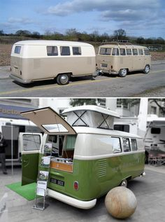 What better to tow behind your VW Bus than a VW Bus?