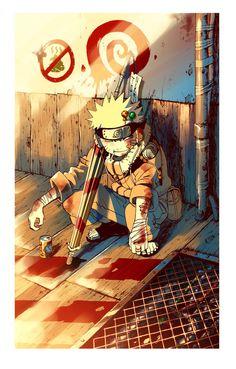 ...<3 meu menino corajoso #UzumakiNaruto #NarutoClassico #fanart
