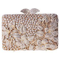 Fawziya Kisslock Flower Purses with Rhinestones Crystal Clutch Evening Bag - Gold Fawziya http://www.amazon.com/dp/B00VLLH4RY/ref=cm_sw_r_pi_dp_TLlrvb1M6XMWE