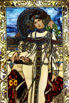 Alphonse Mucha   Autumn by Stained Glass Painter / Jim M. Berberich, via Flickr