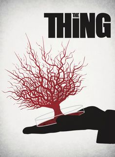 My favorite poster so far. Did one of my favorite horror movies, The Thing. The Thing minimalist poster The Thing Movie Poster, Best Movie Posters, Movie Poster Art, Cool Posters, Film Posters, Cult Movies, Scary Movies, Horror Movie Posters, Horror Movies