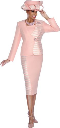 7447 TERRAMINA SKIRT SUIT PLUS DICKIE 100% POLYESTER SPRING 2015 #SkirtSuit ALSO COMES IN PEACH
