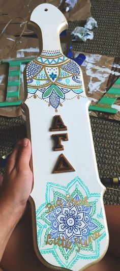 Sorority paddle alpha gamma delta, love it! Get an unfinished paddle at Something Greek and create your own! http://www.somethinggreek.com/collections/fraternity-sorority-paddles-plaques