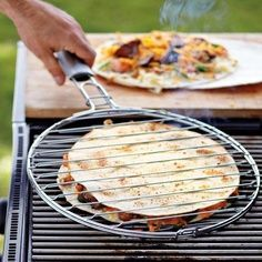 Cook quesadillas on the grill