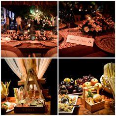 Decoração das mesas   Detalhes florais   Casamento   Wedding   Flores   Flowers   Decoração   Wedding Decor   Inesquecível Casamento   Detalhes   Details