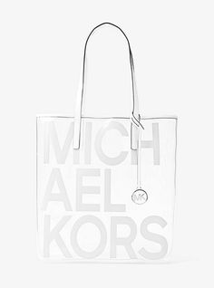 a63f4cbc8b MICHAEL Michael Kors The Michael Large Graphic Logo Print PVC Tote ...
