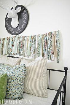 Easy fabric garland