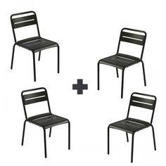 Fermob Chaise métal collection Bistro syst¨me de déplacement et