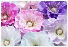 Foamiran Flowers by Lady E Material Flowers, Parchment Craft, Handmade Flowers, Diy Projects To Try, Flower Crafts, Flower Making, E Design, Diy Wall, Party