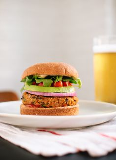 Sweet potato & black bean veggie burgers (vegan and gluten free!)