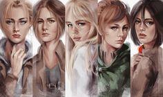 SnK Girls by putemphasis.deviantart.com on @DeviantArt