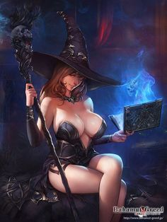 Black Sorceress, Leonid Kozienko on ArtStation at https://www.artstation.com/artwork/black-sorceress