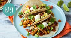 Get your dose of Mexican food with this fantastic vegetarian recipe! Seasoned fajita strips, with avo, sour cream and cheese all finished off with our delicious Mexi Beans. Ready in just 10 minutes, this is a perfect dinner to come home to. Wrap Recipes, My Recipes, Mexican Food Recipes, Vegetarian Recipes, Ethnic Recipes, Quorn, Fajitas, Easy Cooking, Sour Cream