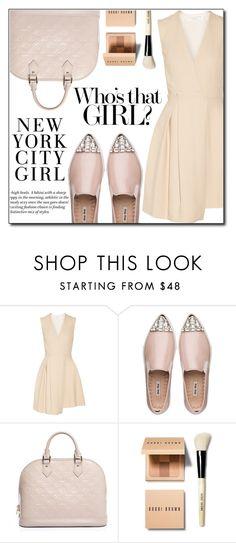 """Bez naslova #821"" by fashion-pol ❤ liked on Polyvore featuring Victoria Beckham, Miu Miu, Louis Vuitton, H&M and Bobbi Brown Cosmetics"