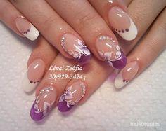 Lévai Zsófia - Lila üvegzselével - 2014.05.07 - 08:09 Cute Acrylic Nails, Gel Nails, Manicure, Nail Polish, Nail Art Designs Videos, Short Nail Designs, Love Nails, Pretty Nails, Nail Ink