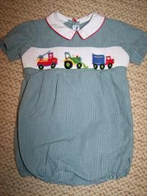 Silly Goose 6mth Smocked Bubble  Price: $5.00