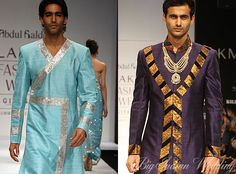 Stunning Indo-Western Sherwani that enables the discerning Asian Groom to exude a unique sense of style, confidence and sophistication.