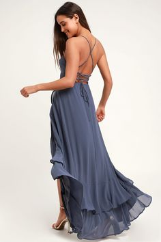 Sage Green Maxi Dress, Blue Maxi, Blue Gown, Bodice Top, Pleated Bodice, Backless Maxi Dresses, Maxi Wrap Dress, Stunning Dresses, Cute Dresses