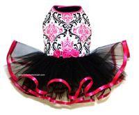 Pink and Black Ruffle Tutu Dog Dress