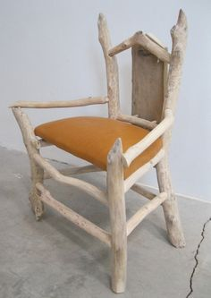 Items Similar To Beaver Chewed Driftwood Childu0027s Chair On Etsy