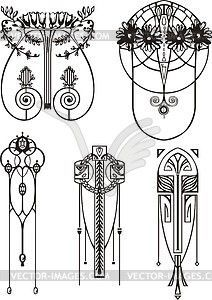 art nouveau pattern circle - Google Search