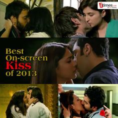 Kissing scenes in Bollywood movies have almost become a norm these days. Which one amongst them is the best on-screen kiss of 2013?