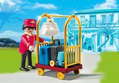 Porter with Baggage Cart - PM USA PLAYMOBIL® USA