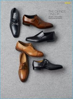 1. Salvatore Ferragamo Metrone 2 Bit loafer 2.To Boot New York Medford double monk strap shoe 3. Monte Rosso Lucca nappa leather loafer 4. Allen Edmonds Strand cap toe oxford 5. Magnanni Teodoro split toe derby 6. Magnanni Marco monk strap loafer