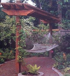 Small Pergola With Hammock Swing , Small Pergola Designs In Landscaping And Outdoor Building Category
