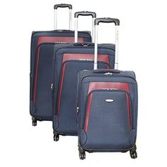 Luggage Sets Collections | Dejuno Conductor 3Piece Expandable Spinner Luggage Set Navy *** You can find out more details at the link of the image. Note:It is Affiliate Link to Amazon. #instagood