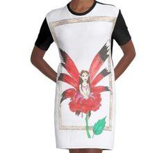 Rose Secret Fairy Graphic T-Shirt Dress Chiffon Shirt, Chiffon Tops, Buy Roses, Long Hoodie, Wearable Art, Laptop Sleeves, Legends, Classic T Shirts, Shirt Designs