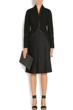 Givenchy | Jacket in satin-trimmed black wool | NET-A-PORTER.COM