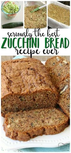 Zucchini bread recipe that truly is the best ever! Easy to make & you'll lov… Zucchini bread recipe that truly is the best ever! Easy to make & you'll love the blend of spices used. It's the perfect zucchini bread recipe! Zucchini Bread Recipe Butter, Zucchini Bread Muffins, Butter Recipe, Classic Zucchini Bread Recipe, Best Zucchini Recipes, Cinnamon Zucchini Bread, Low Carb Zucchini Bread, Recipe Recipe, Healthy Foods
