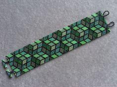 Green Mosaic Bracelet Pattern Peyote Pattern от CreativeGoods