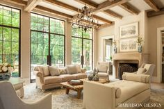 French Normanstyle home Great Room Living French Country by Harrison Design Steel Frame Doors, 4 Season Room, Harrison Design, Home Design Magazines, French Style Homes, French Country House, Country Homes, French Farmhouse, Interiores Design