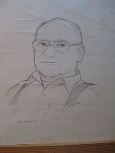 My grandfather sat for me the year before he died. It's done in ball point pen. Highly not recommended.
