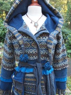 gorgeous combination of blues in fair isle