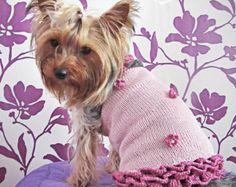 Small dog dress - dog clothes puppy dress dog pet clothes designer dog clothes