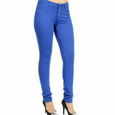Cobalt Blue ponte pants Zip fly. Button waist. Five pocket styling with faux front pockets. Approx rise: 7(18cm). Approx inseam: 30(76cm). Approx leg opening: 11(28cm). 68% rayon/27% nylon/5% spandex. Worn once. Machine wash. Message me with any questions xo shinestar Pants