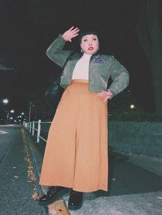 渡辺直美さんの「レースアップシューズ(PUNYUS)」を使ったコーディネート