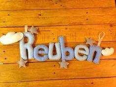 Felt name banner Reuben