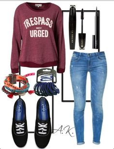 Casual and cute, a great outfit for school
