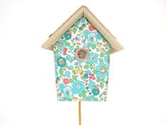 LIBERTY FABRIC BIRDHOUSE WALL LIGHT - GREEN LIBERTY COLOURWAY House Of Clouds http://www.amazon.co.uk/dp/B00X5U2JVK/ref=cm_sw_r_pi_dp_GcB-wb11D8AMB