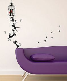 Take a look at this Cats II Wall Decal Set by Art Applique on #zulily today! $15 !!