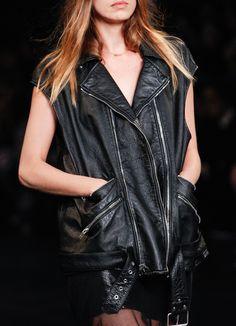 SAINT LAURENT SS16 details minimal edgy leather 90s vest biker MODERN LEGACY