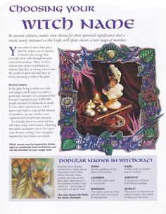 The Witch Is In — Wiccan basic pages for your Book of Shadows. This...