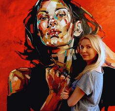 Anna Bocek Illustration t Painting Drawings and Potrait Painting, Abstract Portrait, Portrait Art, Painting & Drawing, Painting People, Figure Painting, Don Corleone, Figurative Kunst, Gustav Klimt